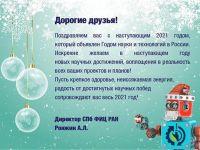 С Новым Годом!! СПБ ФИЦ РАН
